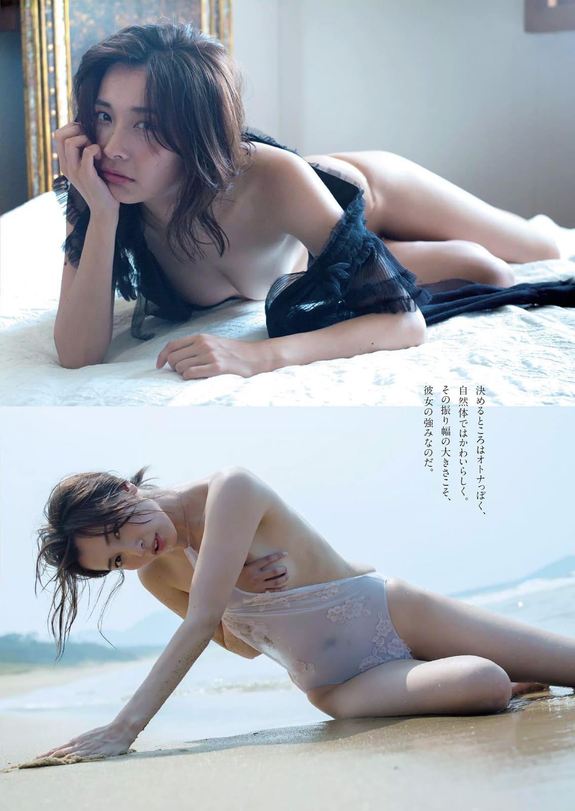 「週刊プレイボーイ 2016 No.38」山崎真実のシースルー変態水着グラビア