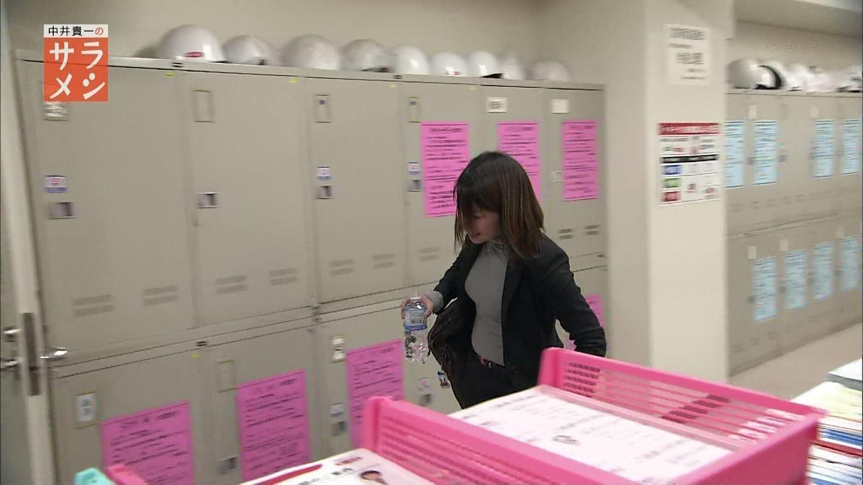 NHK「サラメシ」に出演したOLのニット着衣おっぱい