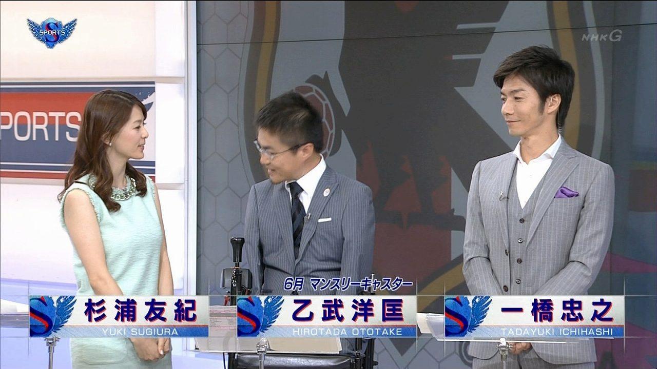 杉浦友紀の着衣巨乳を見る乙武洋匡