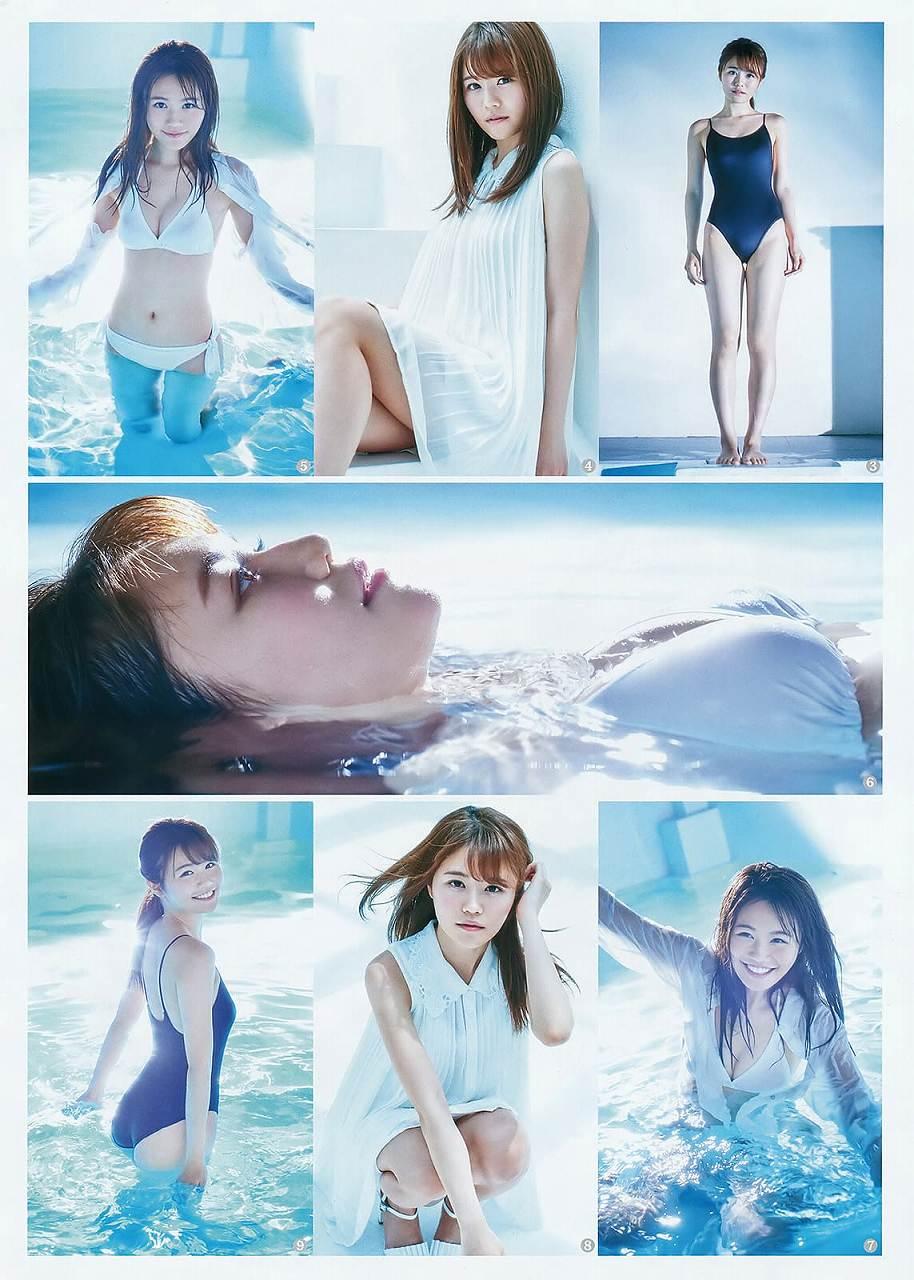 「ヤングジャンプ 2016 No.29」込山榛香の競泳水着グラビア