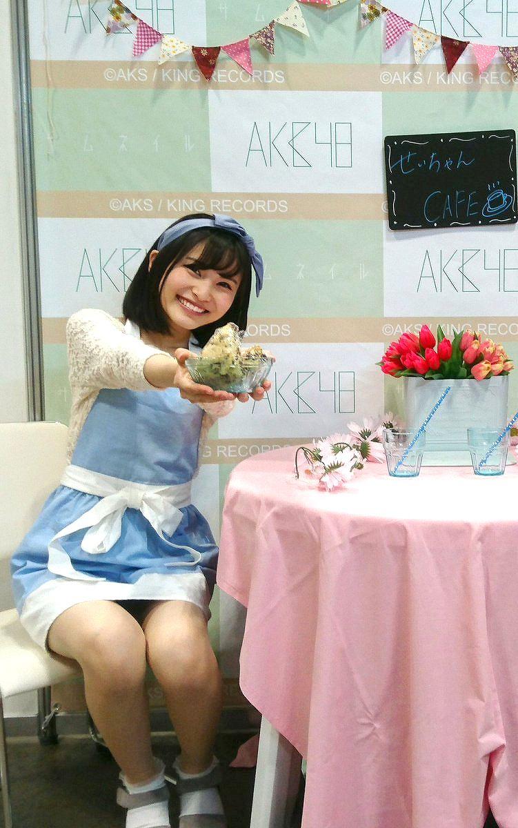AKB48の写メ会でパンチラしてる福岡聖菜