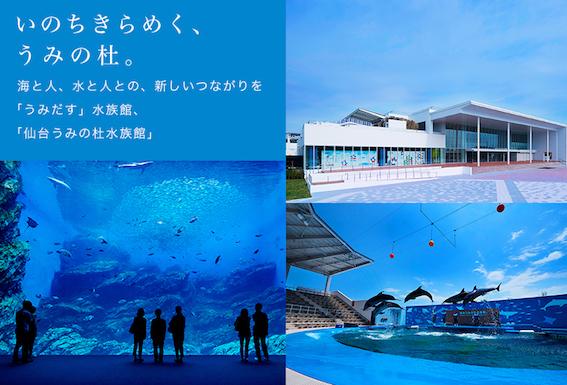 「仙台うみの杜水族館」ポスター