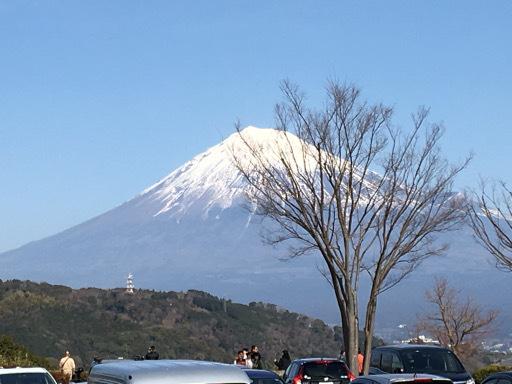富士川SAから富士山を