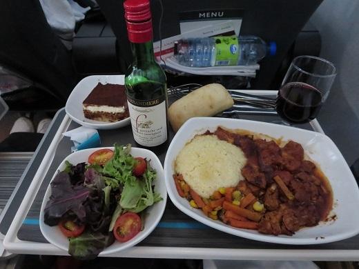 機内食ディナー