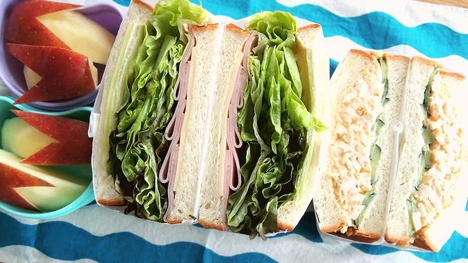 サンドイッチ弁当ズーム