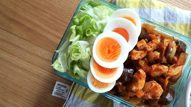 鶏むね肉のトマトドライカレー弁当ズーム