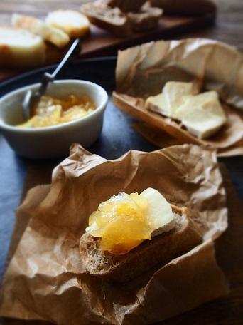 日向夏ママレードとカマンベールチーズ