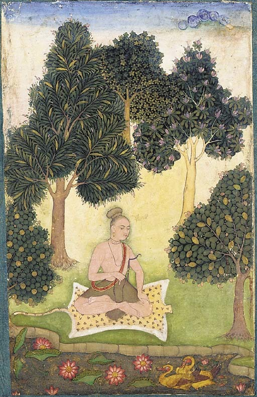 A_yogi_seated_in_a_garden.jpg