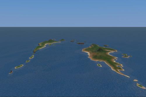 クラウドで作った海と諸島