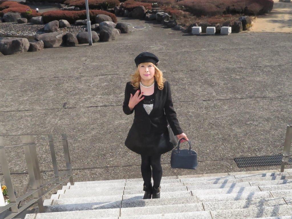 黒レザーミニフレア黒帽子A(10)