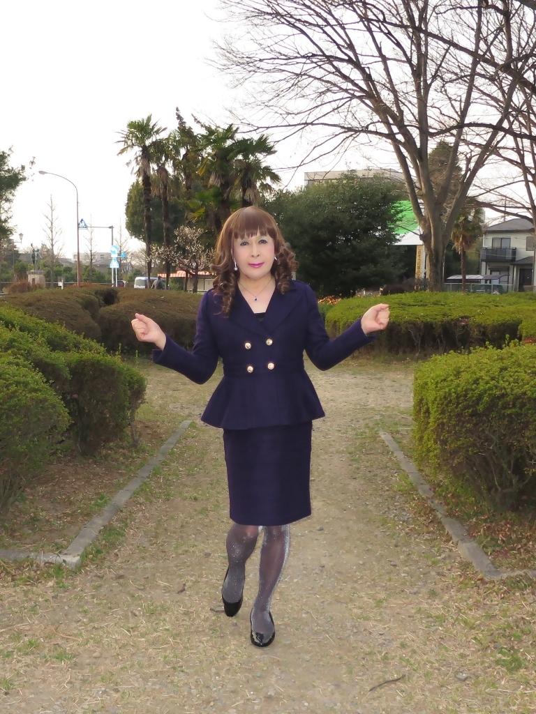 紺色のダブルジャケットA(1)