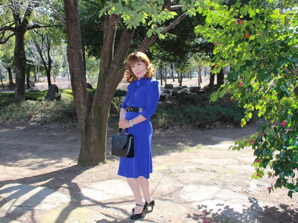 青色のリボンワンピA(3)
