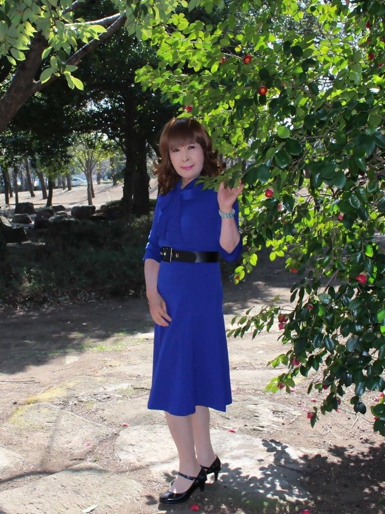青色のリボンワンピA(4)