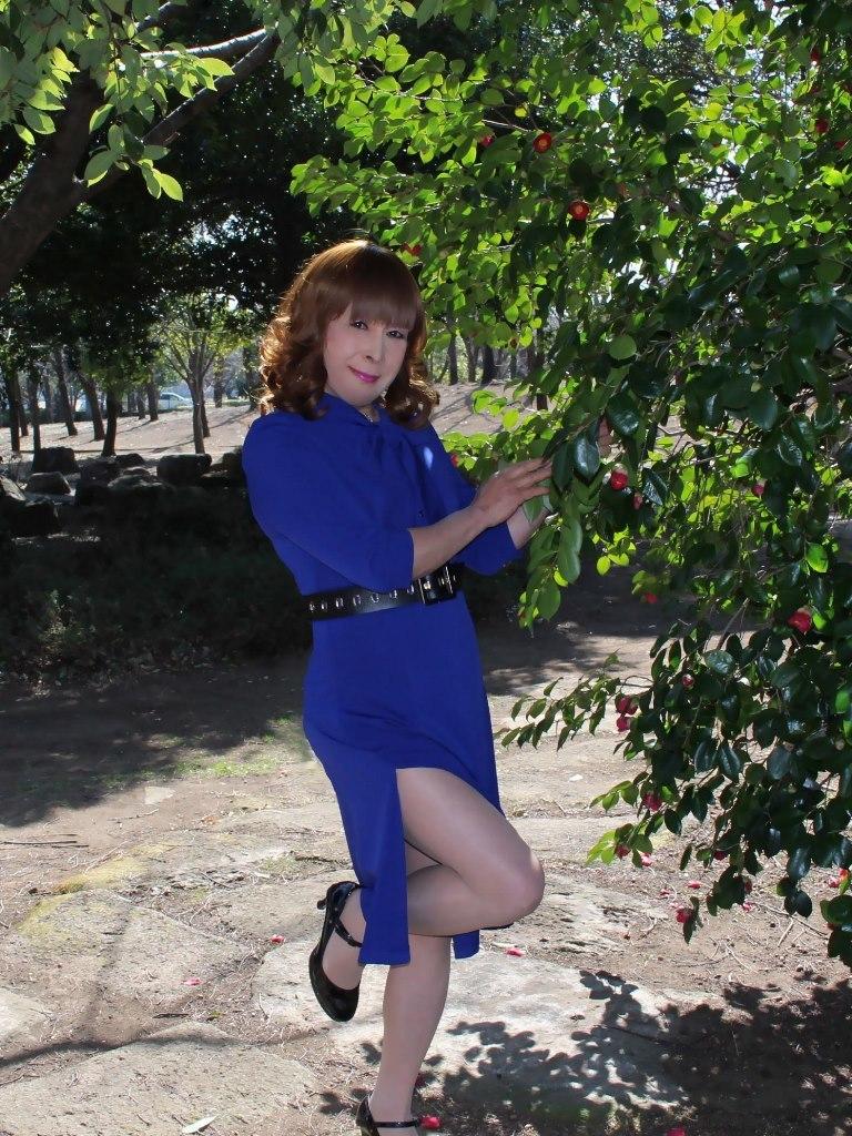 青色のリボンワンピA(6)