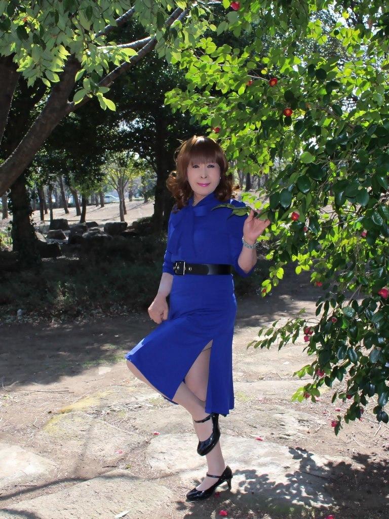 青色のリボンワンピA(5)