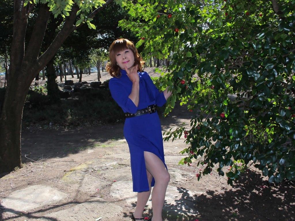 青色のリボンワンピA(7)