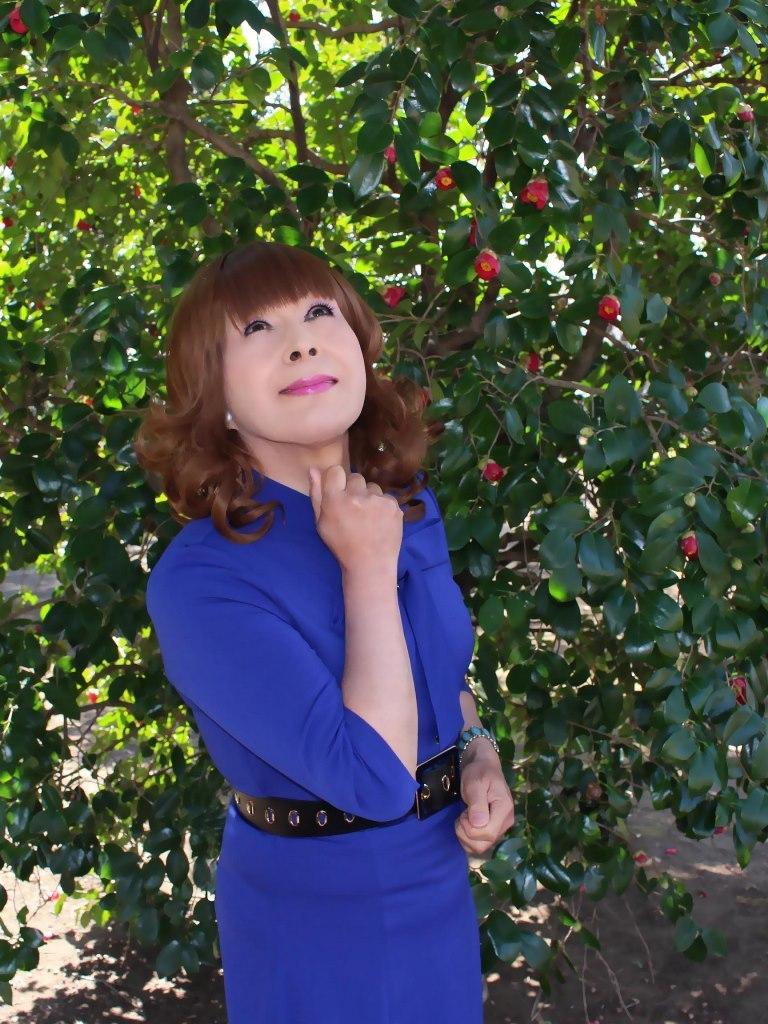 青色リボンワンピC(5)