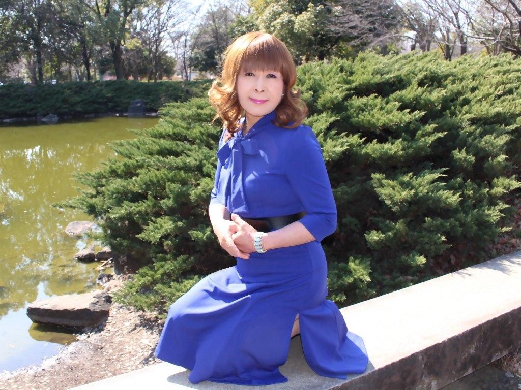 青色リボンワンピD(5)
