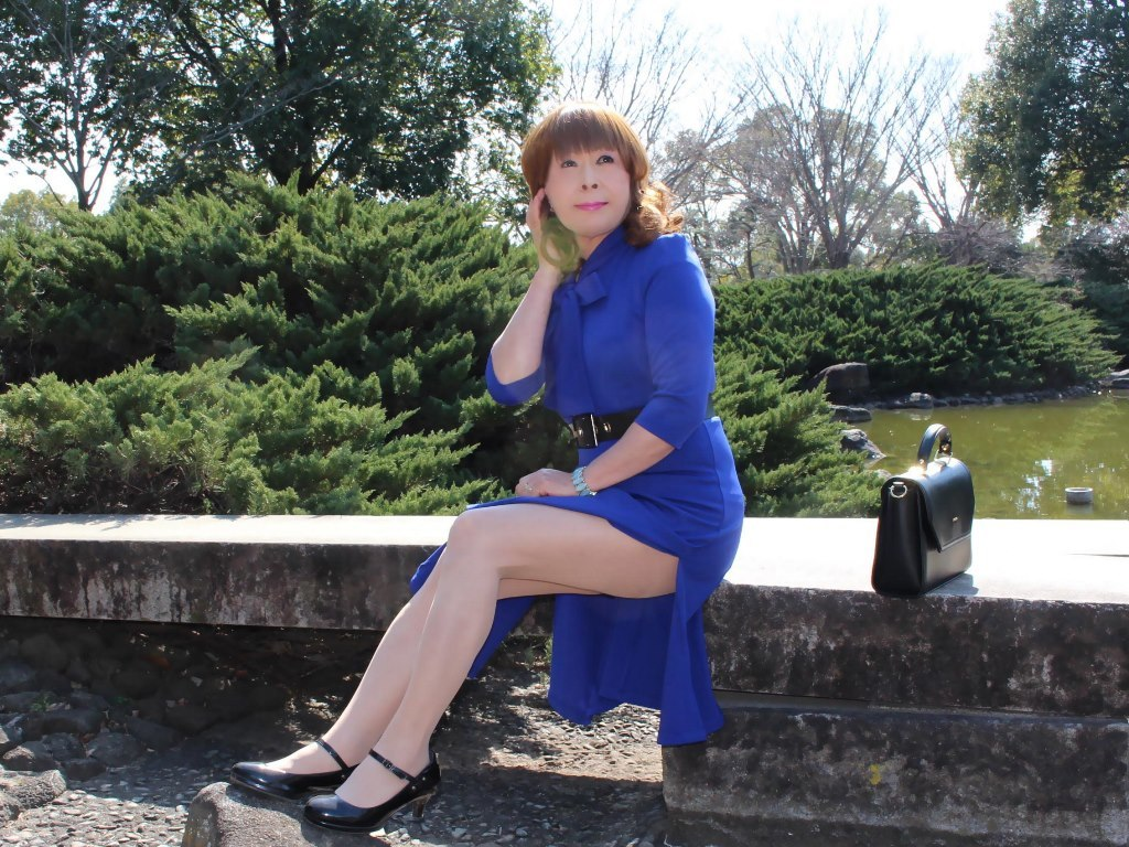 青色リボンワンピD(6)