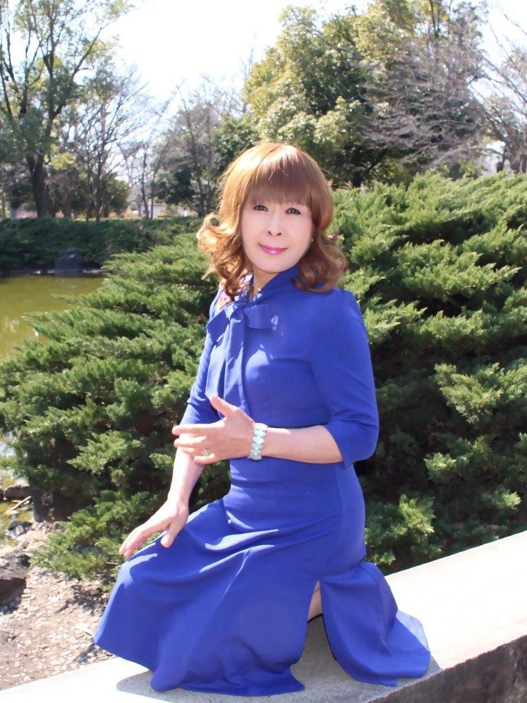 青色リボンワンピD(3)