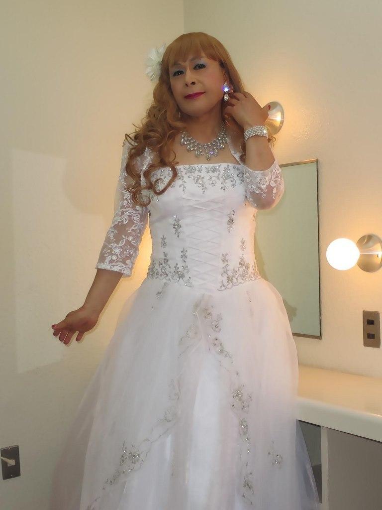 白ドレス舞台更衣室にてB(6)
