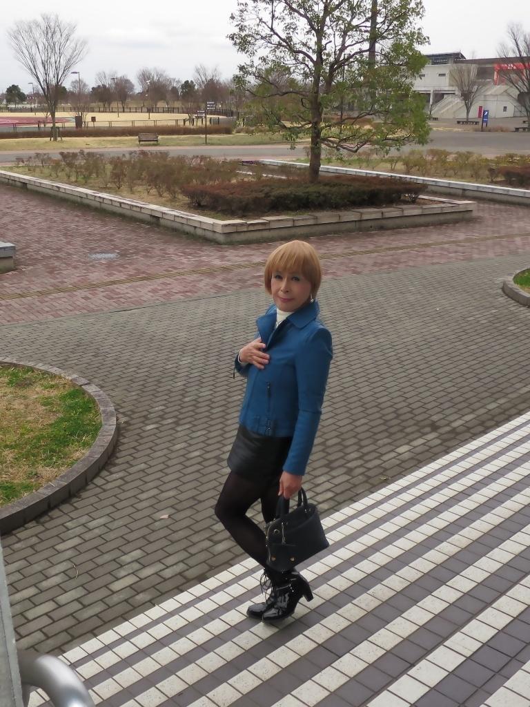 青レザージャケットA(4)