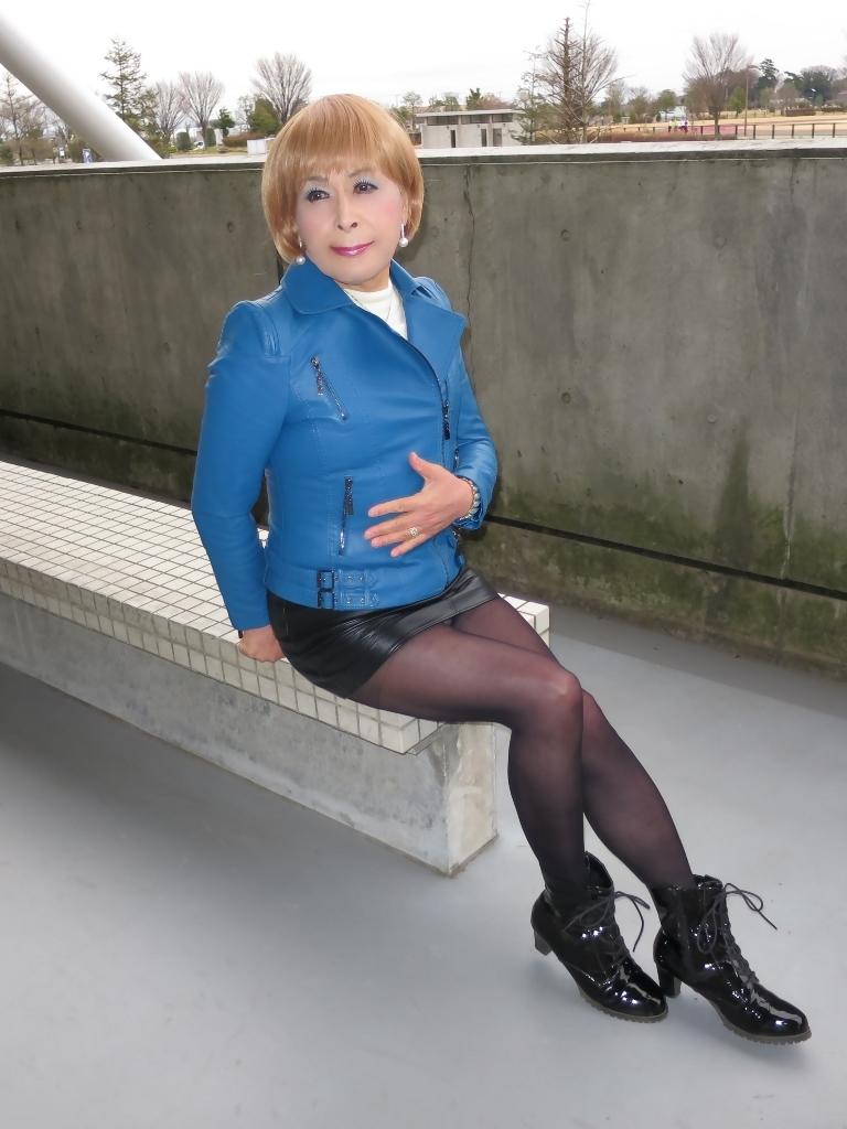 青レザージャケットC(6)