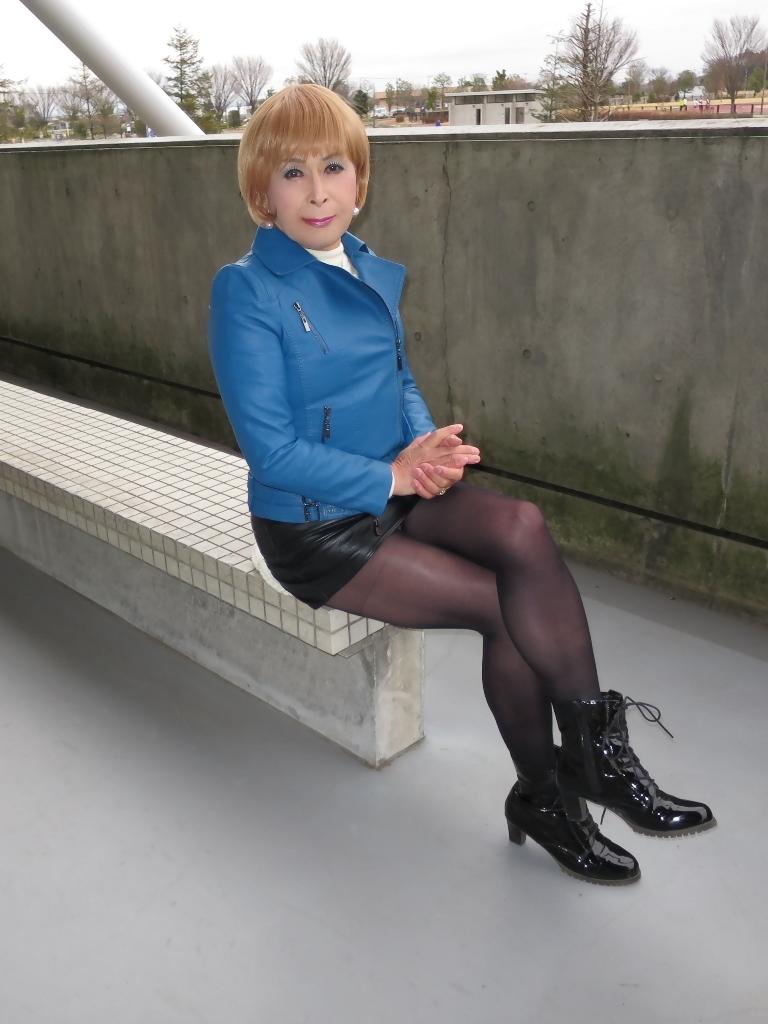 青レザージャケットC(8)