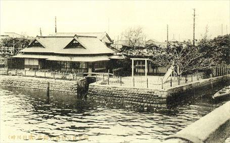 関東大震災後の橋場の對鷗荘と思川