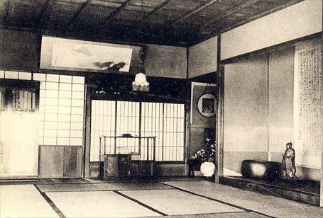 對鷗荘の茶室(内部)