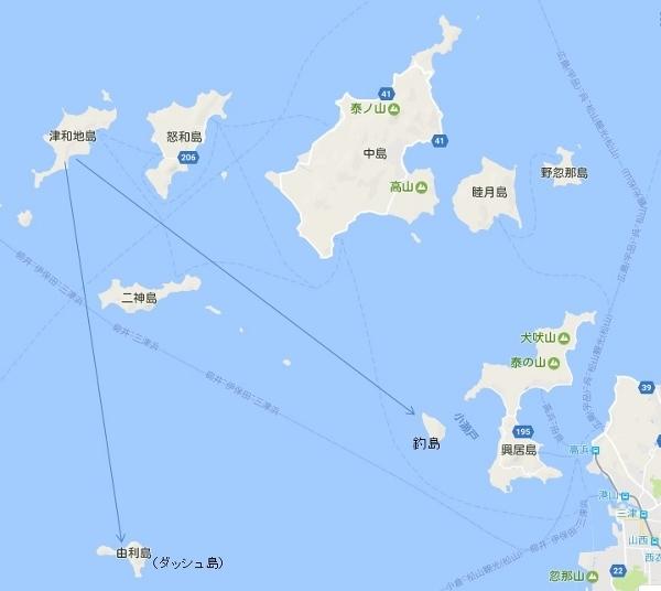 津和地島から釣島、由利島 (600x536)
