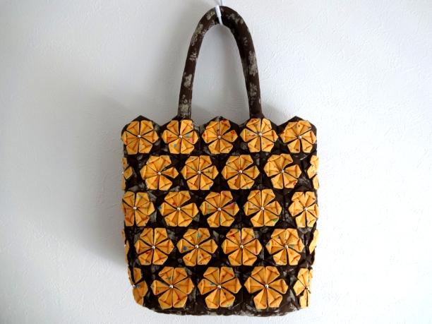 花バッグ橙1