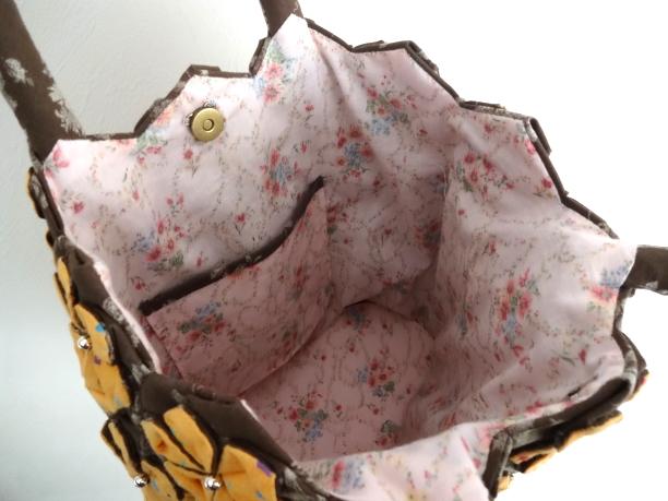 花バッグ橙3