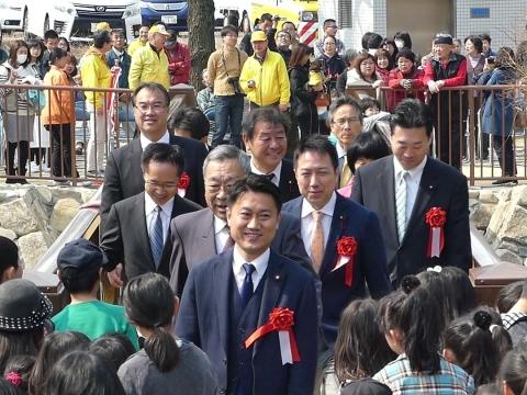 白沢渓谷微笑橋開通式(10)