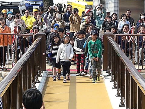 白沢渓谷微笑橋開通式(9)