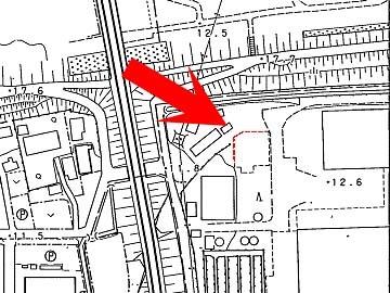 角がカットされた建物地図