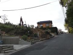 御嶽神社入り口で工事(1)