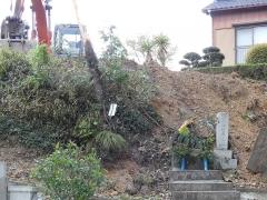 御嶽神社入り口で工事(2)