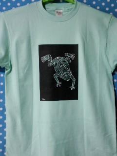 ゼンタングル風蛙Tシャツ
