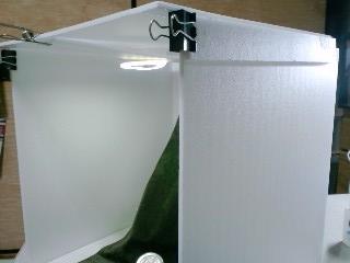 ライト付き撮影ボックス 側面