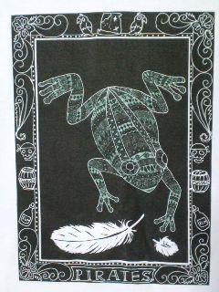 海賊版ゼンタングル風蛙Tシャツアップ