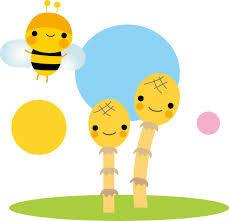 つくしとミツバチ