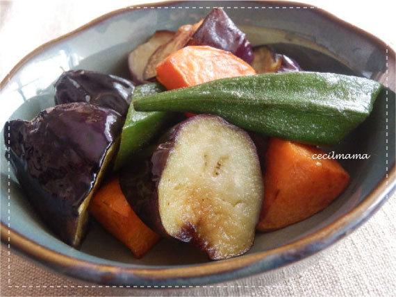 野菜の揚げ煮