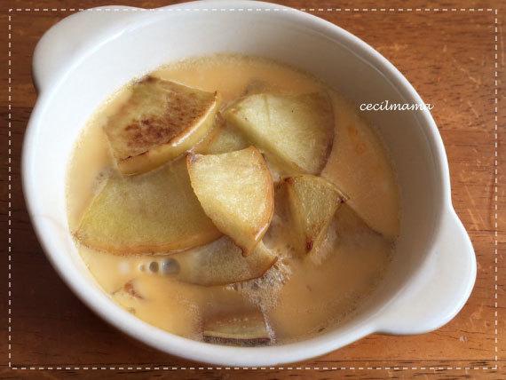 りんごとさつまいもの豆乳プリン_1