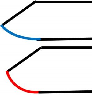 曲線彫り用片切タガネ 緩急図