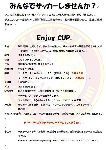 エンジョイカップ(427更新)