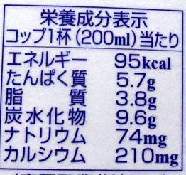 M永の牛乳 成分
