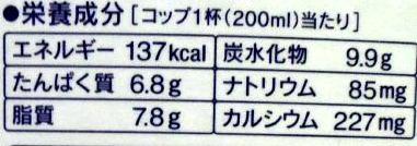 M治おいしい牛乳 成分