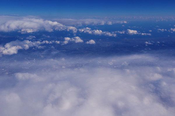 蔵王連峰の雪雲