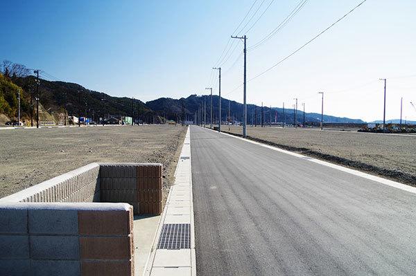 大槌町の住宅造成地